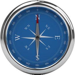 Compass directing you to successful programme management