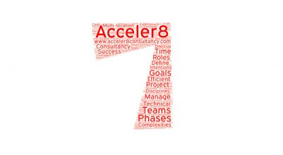 Number seven to illustrate the number of project management tips